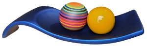 Centro de Mesa Azul Esferas Cerâmica Coloridas
