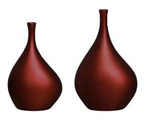 Enfeite de Mesa Garrafa Cristal Decoração em Cerâmica Vinho