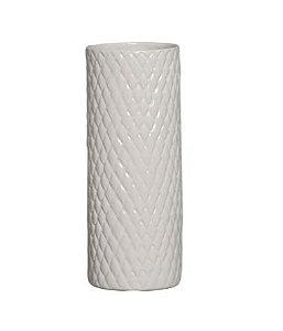 Cachepot de Cerâmica Creme Claro 32,7 x 12,7 cm
