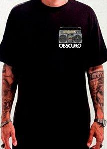 Camiseta OBSCURO BoomBox Preta