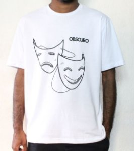 Camiseta OBSCURO Mascaras Branca
