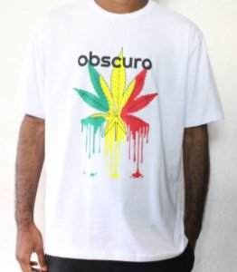 Camiseta OBSCURO Weed Branca