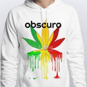Blusa OBSCURO Moletom Weed Branca
