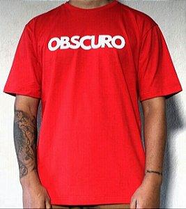 Camiseta OBSCURO White Vermelha