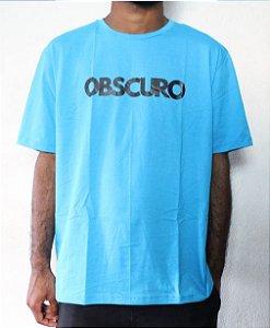 Camiseta OBSCURO Black Azul Turquesa