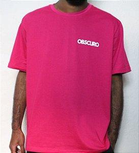 Camiseta OBSCURO Mini Logo Rosa