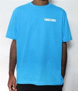 Camiseta OBSCURO Mini Logo Azul Turquesa