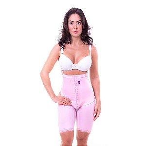 Cinta pós cirúrgico bermuda cintura alta com alça