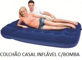 Colchão Inflável Casal Cadeira e piscina