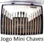 JOGO DE MINI CHAVES C/16 PEÇAS CABEÇA GITATÓRIA