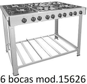 FOGÃO INDUSTRIAL INOX 2-4-5-6 QUEIMADOR VÁRIOS MODELOS