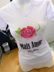 Camiseta Personalizada - Mais Amor, por favor