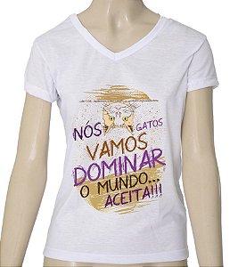 Camiseta Feminina - Gatos
