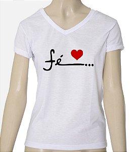 Camiseta Feminina Fé