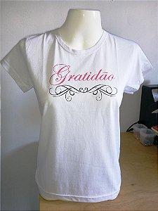 Camiseta Feminina Gratidão Delicadas