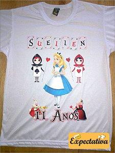 Camiseta Personalizada de Aniversário Alice - 01