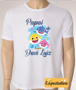 Camiseta Personalizada de Aniversário Baby Shark - 01