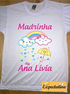 Camiseta Personalizada de Aniversário Chuva de Amor - 01