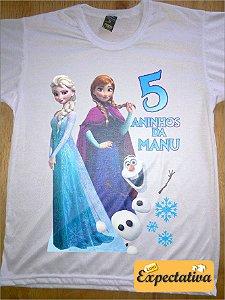 Camiseta Personalizada de Aniversário Frozen - 01