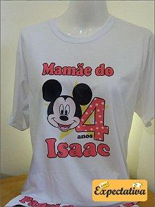Camiseta Personalizada de Aniversário Mickey - 01