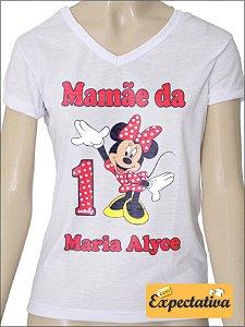 Camiseta Personalizada de Aniversário Minnie - 02