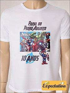 Camiseta Personalizada de Aniversário Vingadores - 01
