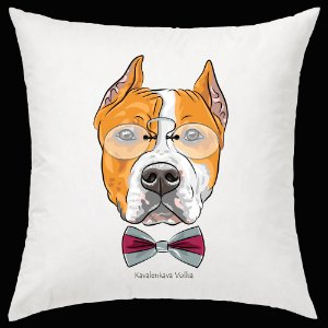 Almofada American Staffordshire Terrier da artista Kavalenkava Volha