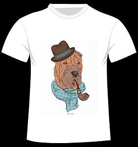 Camiseta Shar Pei da artista Olga Angelloz