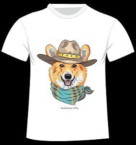 Camiseta Corgie da artista Kavalenkava Volha