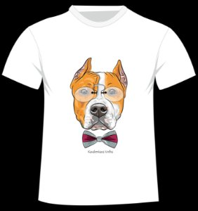 Camiseta American Staffordshire da artista Kavalenkava Volha