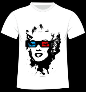 Camiseta Marilyn do artista GrayCatAca