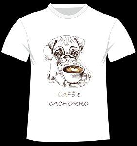Camiseta Café e Cachorro da artista russa Afishka