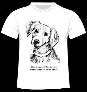 Camiseta Pacotinhos de Amor personalizada com nome