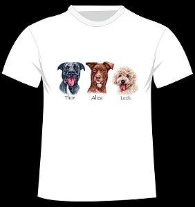 Camiseta Os Vira-latas - Monte a sua família de 4 patas