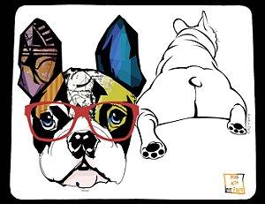 Mouse Pad Bulldog Francês Frente e Verso