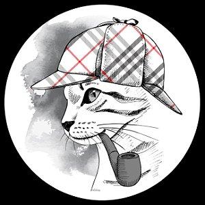 Mouse Pad Gato com Cachimbo