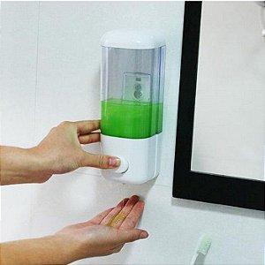 Dispenser porta Alcool em Gel e Sabonete Liquido para Banheiro com Ventosas