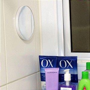 Espelho para fazer a Barba no Banheiro - 14cm e Aumento de 5x