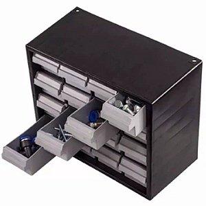 Gaveteiro Plástico Organizador Multiuso com 16 Gavetas - Grande