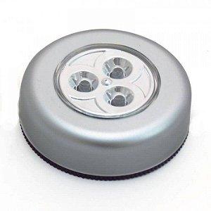 Luminária para Closet Armário e Cabeceira de Cama Auto Adesiva com 3 Leds