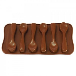 Forma de Silicone para Chocolate Gelo e Gelatina em Formato de Colher