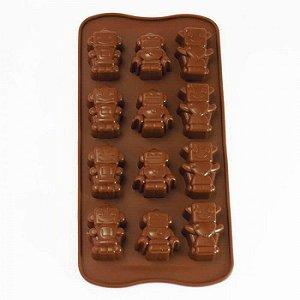 Forma de Silicone para Chocolate Gelo e Gelatina Robôs