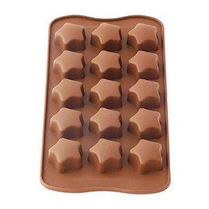 Forma de Silicone para Chocolate Gelo e Gelatina Estrela