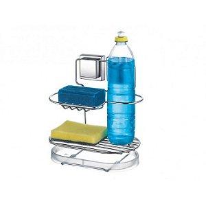 Suporte para Detergente e Esponja com Ventosas de Alta Sucção - Arthi