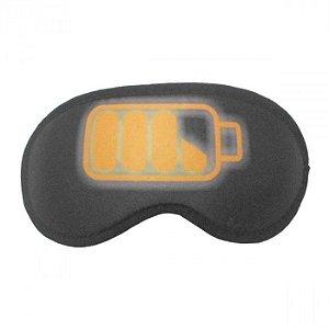 Máscara de Dormir Divertida Bateria Recarregando
