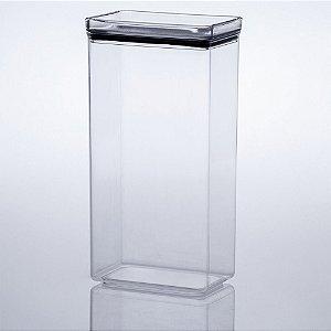 Pote Hermético Lumini Empilhável 2600ml 27,5x13x8,5cm em Acrilico