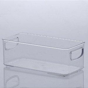 Organizador Diamond 23x11x8cm Transparente em Acrílico