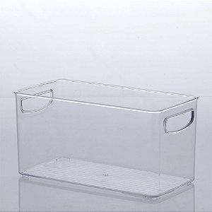 Organizador Diamond 30x15x15cm Transparente em Acrílico