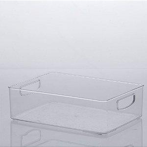 Organizador Diamond 31x22x9cm Transparente em Acrílico