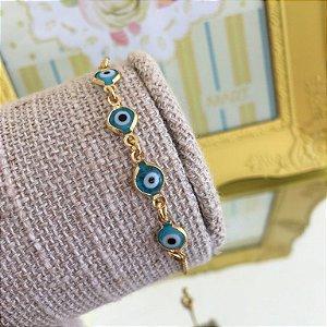 Pulseira Olho Grego Azul Claro